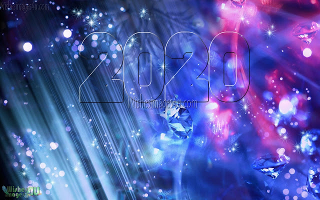Happy New Year 2020 Full HD Desktop Images With Sparkling Background