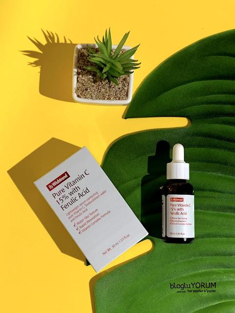 by wishtrend pure vitamin c 15 with Ferulic acid aydınlatıcı cilt bakım serumu