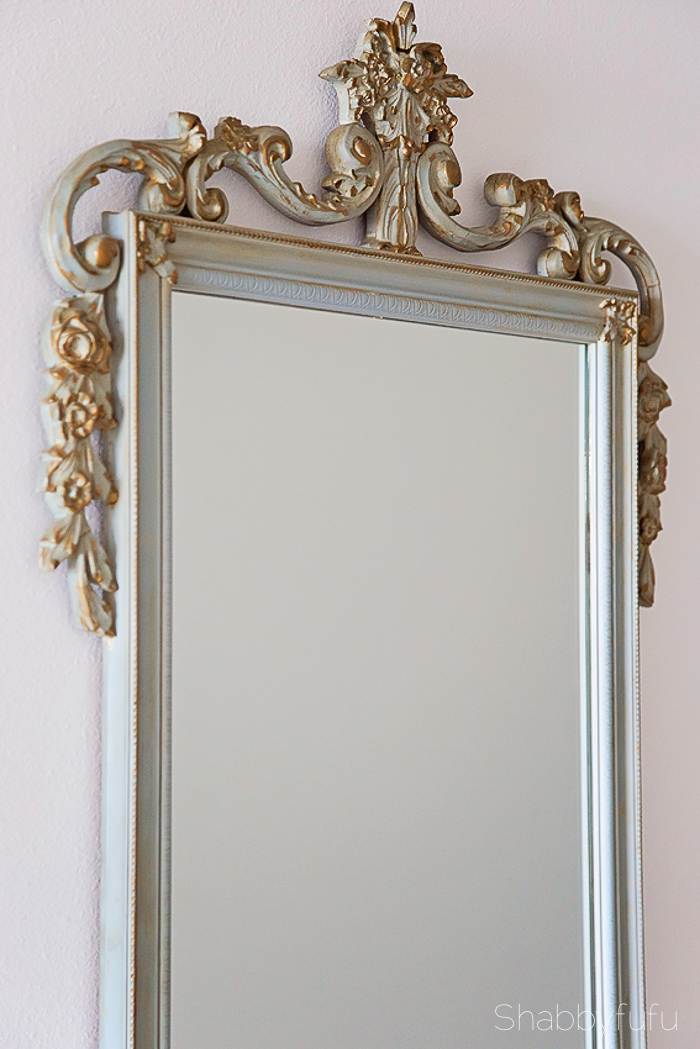 french gilded vintage mirror thrifted