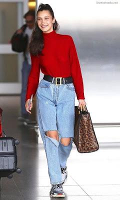 Pantalones Rasgados de Moda