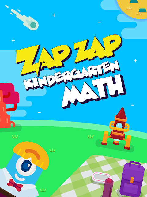 Zap Zap Kindergarten Math is a fun, easy to use math ap for kids to practice math. Perfect for at home, extra practice, library, and on the go families