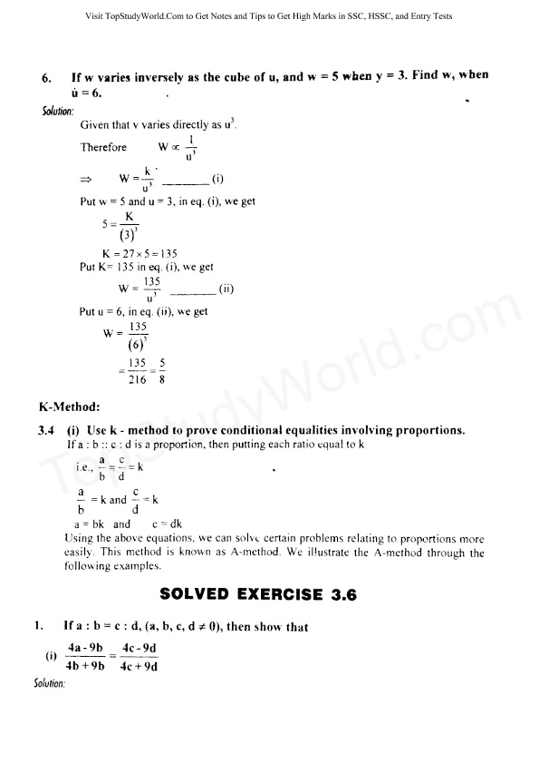 Solved Exercise 3 6 Class 10 Maths Solution Notes (With Free