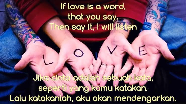 kata mutiara bahasa inggris tentang cinta dan artinya