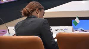 Kemi Adeosun Spotted At The Airport