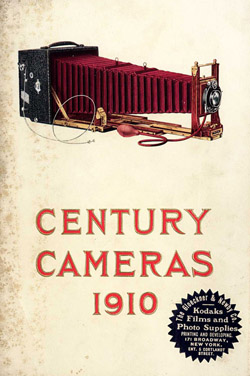 Couverture du catalogue Century Cameras de 1910