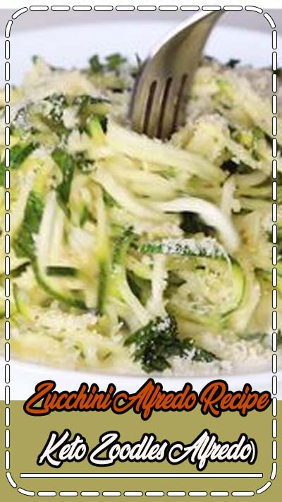 Zucchini Alfredo Recipe (Keto Zoodles Alfredo) - Keto zucchini noodles Alfredo (keto zoodles) has a rich, creamy sauce that's low carb & gluten-free. It's the best zucchini Alfredo ever! #wholesomeyum #keto #lowcarb #dinner #ketodinner #healthydinner #easydinner #zoodles #ketozoodles