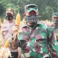 Wujudkan Hanpangan Dimasa pandemi Covid-19, Kodim 0315/Bintan Gelar Panen Jagung Demplot di Kota Tanjungpinang