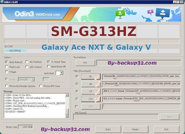 سوفت وير هاتف Galaxy Ace NXT & Galaxy V موديل SM-G313HZ روم الاصلاح 4 ملفات تحميل مباشر