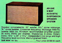 Acoustic Research Ar-2 specs speaker AR2 review