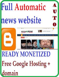 Automatic Blogger News Website (Ready Monetized)