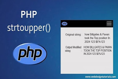 PHP strtoupper() Function