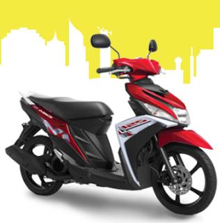 New Yamaha Mio M3 Merah Terbaru 2016