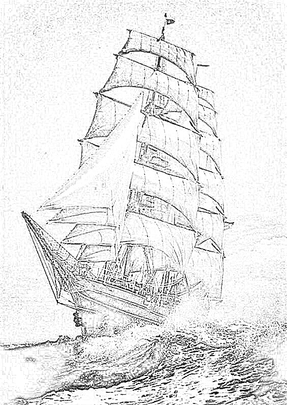 british sailing warship coloring pages - photo#17
