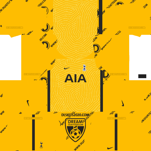 Tottenham Hotspur Kits 2020-2021 Nike For Dream League Soccer 2019 (Away Goalkeeper)