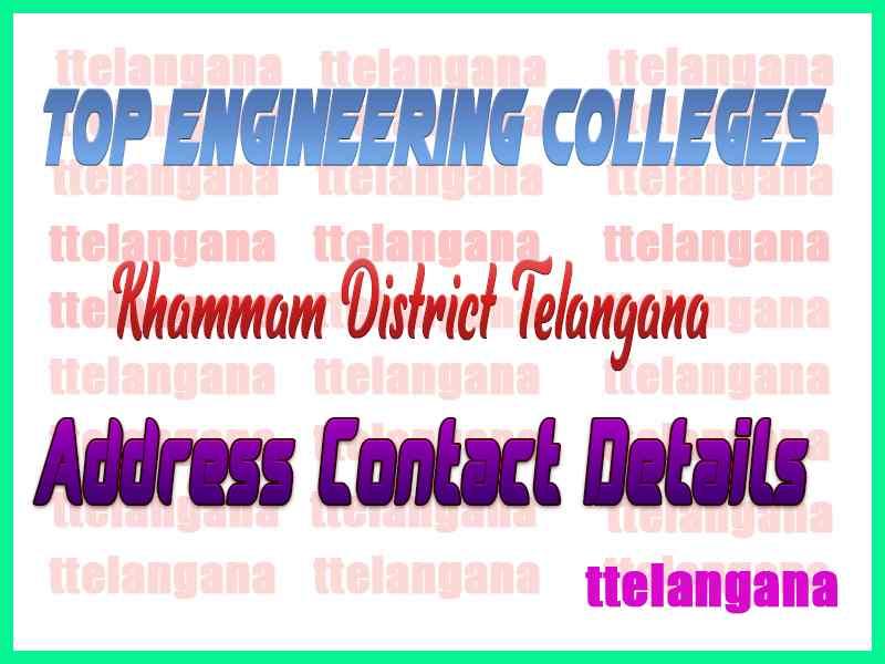 Engineering Colleges In Khammam District Telangana