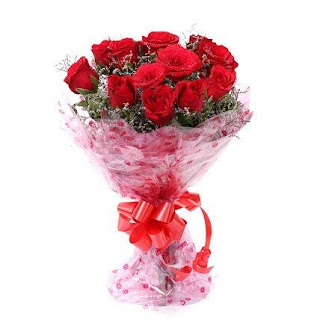 Floralbay Red Roses Bouquet Fresh Flowers