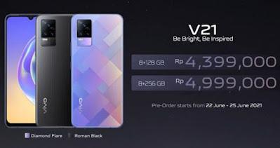 Harga HP Vivo V21