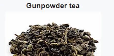 Healthy Chinese Gunpowder Tea.
