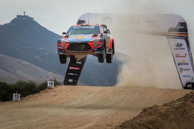 Finland WRC Hyundai Airbourne