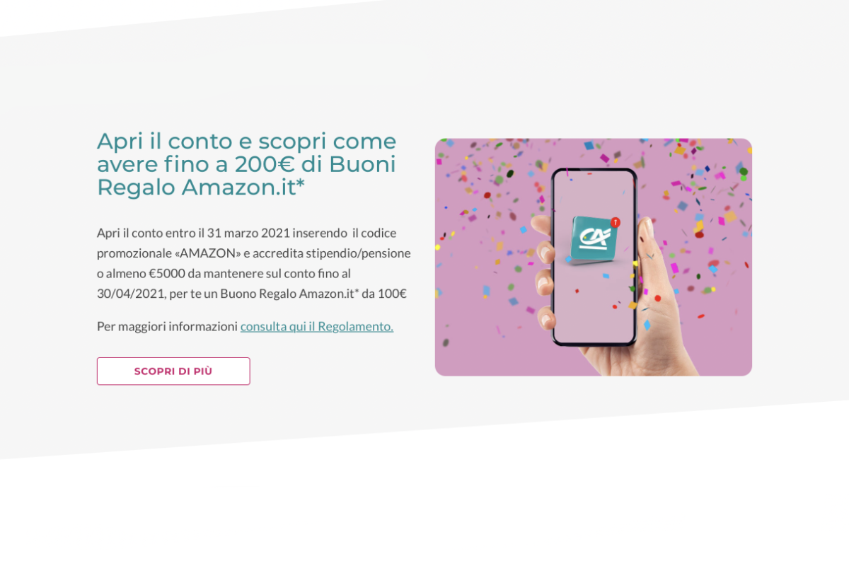 Come ricevere 200 euro da Crédit Agricole