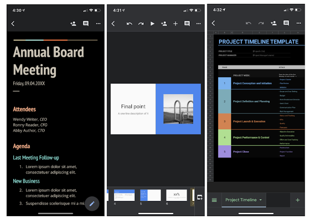 Dark theme now available for Docs, Sheets, and Slides on iOS 1