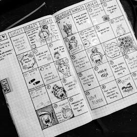 contoh collection pada bullet journal