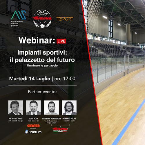 Webinar Impianti Sportivi il palazzetto del futuro