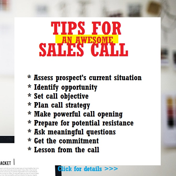 Tips for an awesome sales call