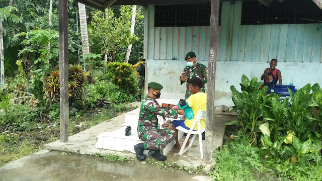 Satgas Yonif MR 413 Kostrad Wujudkan Papua Sehat