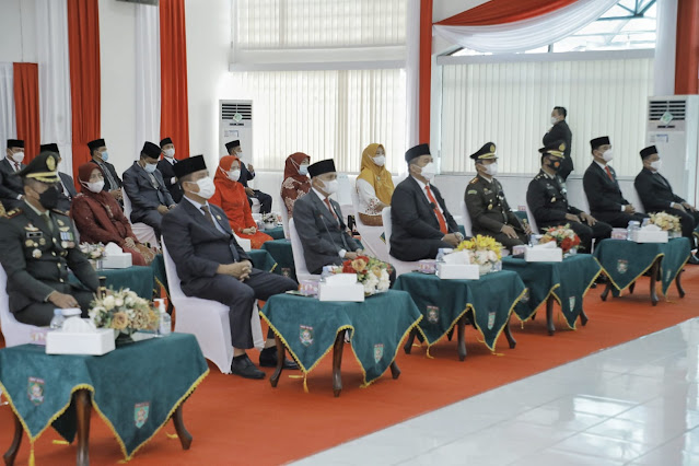 Bupati bersama Forkopimda Kabupaten Asahan Mengikuti Upacar Detik-Detik Proklamasi Secara Virtual