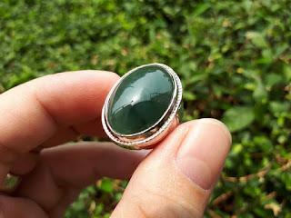 Cincin Giok Jadeite Jade Type A JDT014 Origin Burma Memo by DGL