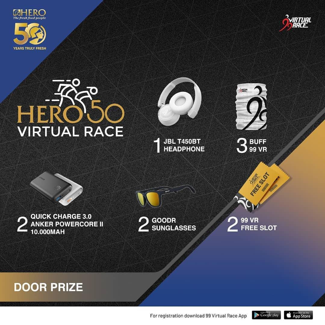 Doorprize � Hero 50 Virtual Race • 2021