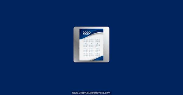 Plantilla vertical de calendario 2020 gratis