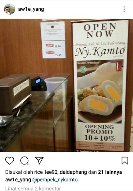 Promosi discount kuliner pempek ny Kamto bandung