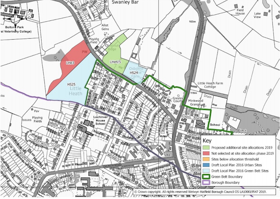 Local plan map for Little Heath