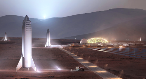 SpaceX Mars Base Alpha