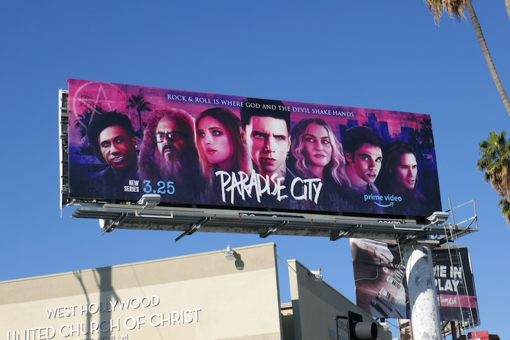 Paradise City series premiere billboard