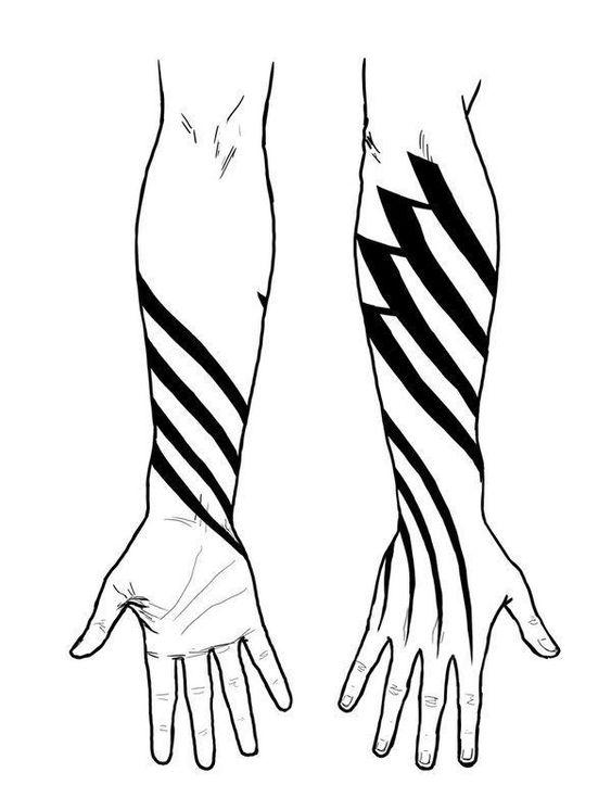 Gambar tato di lengan