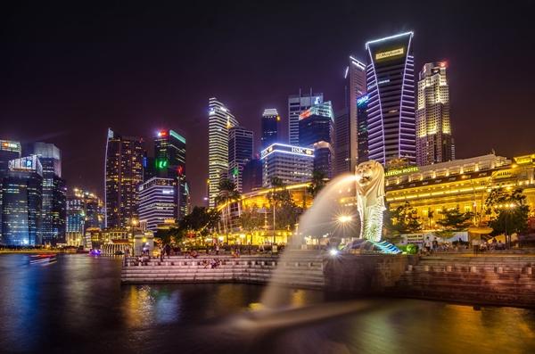singapore, singapore night scenery, night view, night