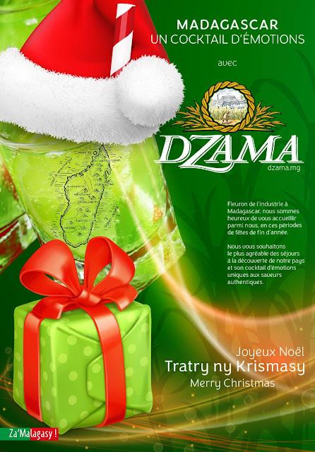 publicité pour les rhums Dzama noël 2018
