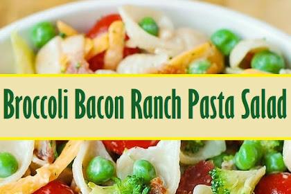 Broccoli Bacon Ranch Pasta Salad