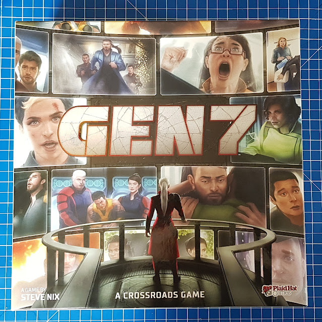 Gen 7 Game box with filmstrip illustrated characters