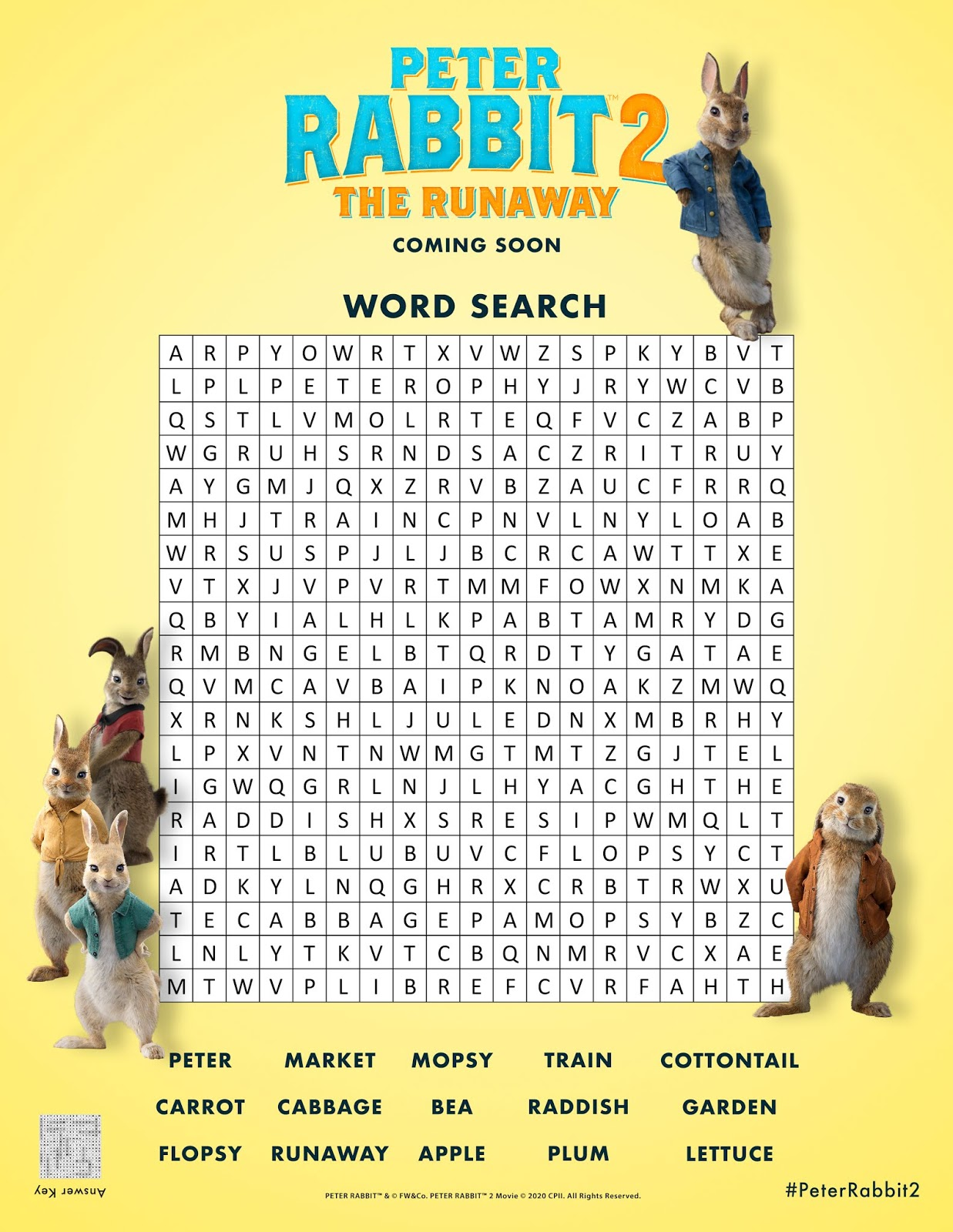 Peter Rabbit 2 Word Search