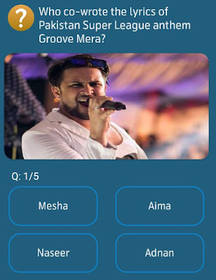 Who co-wrote the lyrics of Pakistan Super League anthem Groove Mera?