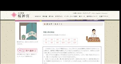 桜神宮のオンライン参拝・おみくじ