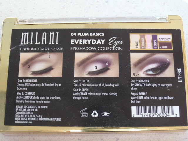Milani Everyday Eyes Powder Eyeshadow Collection Plum Basics application guide