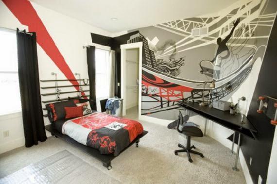 habitación temática skate