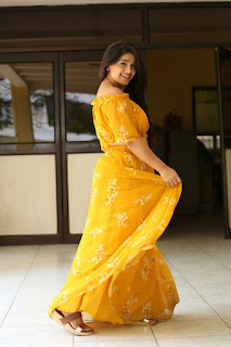 Chandni Bhagwanani Photos in Yellow Dress