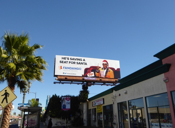 saving seat for Santa Fandango billboard
