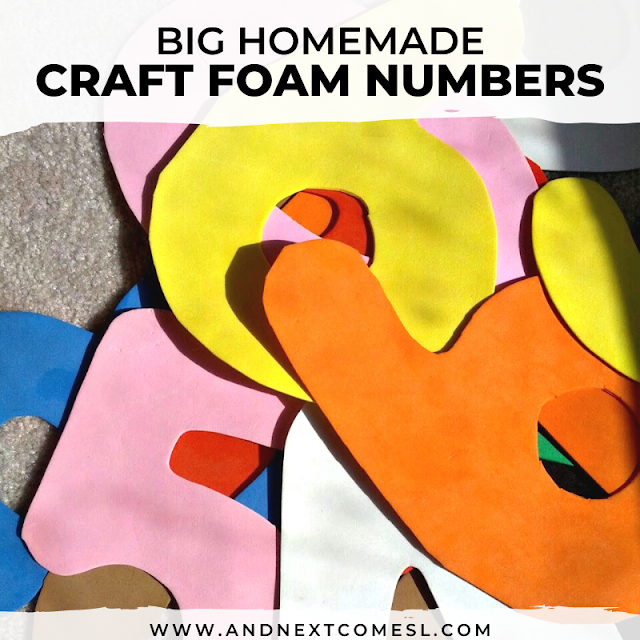 How to make large foam letters (or letters) for kids out of craft foam